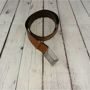 Chico's Brown Leather Buckle Belt Size S
